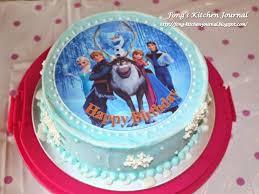 25 simple frozen cake ideas elsa birthday