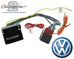 vw transporter t5 car stereo radio wiring harness adaptor iso