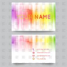 abstract bright business card template vector image 65730 u2013 rfclipart