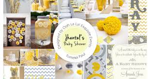 yellow and gray baby shower ooh la la events baby showers