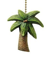 palm tree ceiling fan coastal island palm tree ceiling fan pull decorative light chain