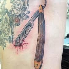 straight razor tattoo barbershop tattoos pinterest straight