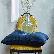 night blue stonewashed slip linen sheet set len ok