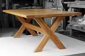 x leg dining table op woodcraft bespoke european oak x leg dining table op woodcraft