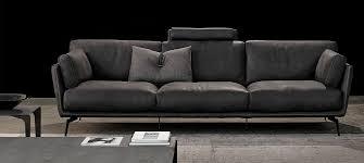 Gamma Leather Sofa by Ralph Casarredo