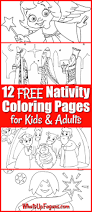 12 free printable nativity coloring pages kids