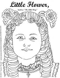 little flower saint therese of lisieux coloring page immaculate
