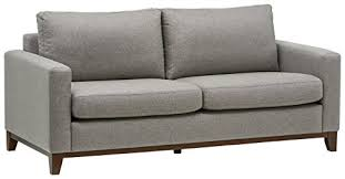 Grey Modern Sofa Rivet End Exposed Wood Modern Sofa 78 W Grey Weave