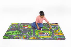 Car Play Rugs Carpet City Kids Floor Rug Roads Travel Street Toy Play Car Trucks