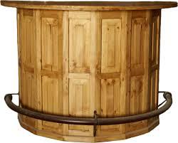 rustic pine half round home bar u2014 rustic furniture outlet rustic