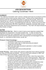 Catering Job Description For Resume by Catering Resume Free Resume Example And Writing Download