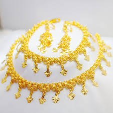 aliexpress buy new arrival fashion shiny gold plated luxurious 24k gold plated three pieces shiny exquisite