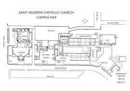 campus map u0026 parish hall maps