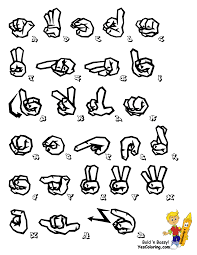 graffiti sign language alphabet chart you can print out this