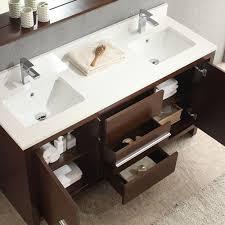 fresca allier 60 inch wenge brown modern double sink bathroom