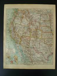 Western Us Map Old Map Of The United States 1926 Vintage Poster Western Usa