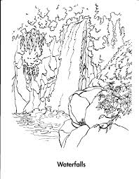 waterfall 7 nature u2013 printable coloring pages