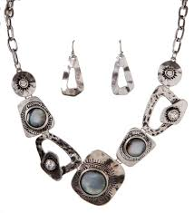 necklace sets wholesale images Silver abstract necklace set wholesale ns5157s jpg