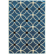 linon home decor rugs linon home decor claremont cylinder blue and black 2 ft x 3 ft