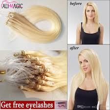 cheap extensions remy micro loop hair extensions cheap human 60 platinum