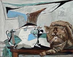 cat painting picasso cat by judy henn
