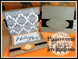 halloween invitation pictures diy halloween party invitations for the non scrapbooking non