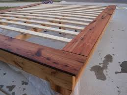 Making A Platform Bed by Bed Frames Wood Bed Frame Plans How To Make A Queen Bed Frame