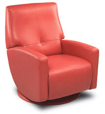 furniture comfortable red leather recliner with ottoman for