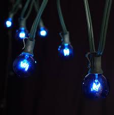 25 foot green wire blue globe light string