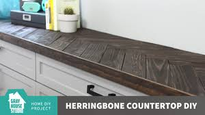 Counter Top by Herringbone Countertop Diy Updated Youtube