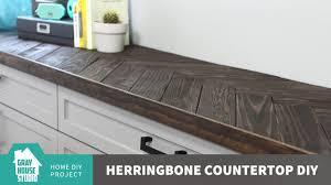 herringbone countertop diy updated youtube
