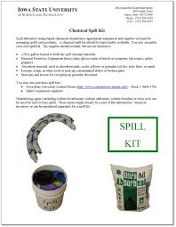 chemical spill small environmental health and safety