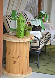 Upcycling Sofa Wooden Cable Spool Table 40 Upcycled Furniture Ideas