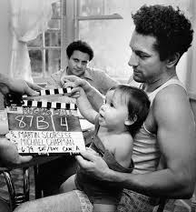 robert de niro and joe pesci at the set of the raging bull 1980