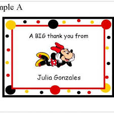 minnie mouse thank you cards minnie mouse and mickey mouse note or thank you cards lots of