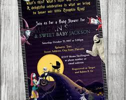 nightmare before baby shower invitations etsy