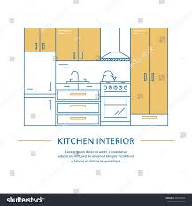 vector kitchen interior design brochure cover stock vector