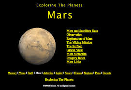 websites mars information