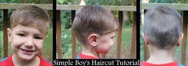 simple boy u0027s haircut tutorial raising olives