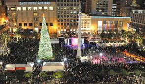 sf christmas tree lighting 2017 holiday decorations in san francisco best neighborhoods for holiday