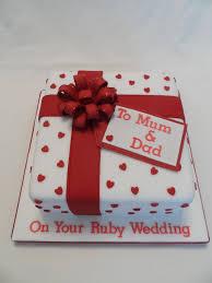 25 best ruby wedding cake ideas on ruby wedding