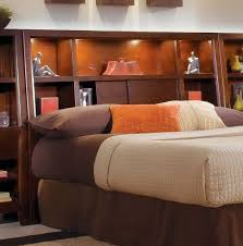 Bookcase Headboard King King Size Bookcase Headboard With Lights All Styles Bookcase