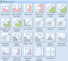 dimensioned floor plan use dimension shapes in floor plan