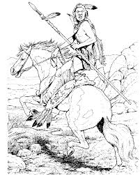 indian horses coloring pages