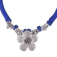 vintage silver choker necklace images Usha gems vintage floral design pendant oxidised german silver jpg
