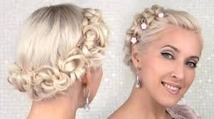 easy prom wedding updo hairstyle for medium long hair tutorial