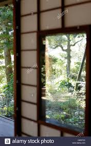 paper window at traditional japanese house stock photo royalty