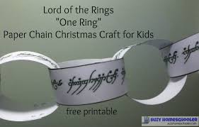 lord of the rings u201cone ring u201d free printable paper chain christmas