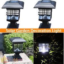 Outdoor Solar Post Light Fixtures Solar Post Cap L Led Landscape Post Light Waterproof Ip44 Black