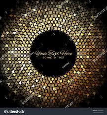 vector gold lights frame on black stock vector 538687087